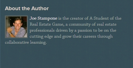 Joe Stampone Blog Bio